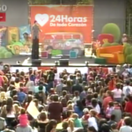 El payaso Capote en la Plaza Independencia.